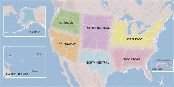 CSC Regions US Department of the Interior