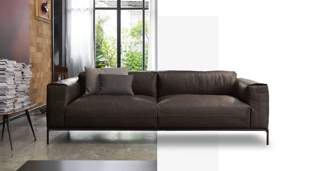 Divani moderni e contemporanei, disponibili a due, tre o più posti, modulari, angolari, con chaise longue e pouf. Produzione E Vendita Di Divani Doimo Salotti