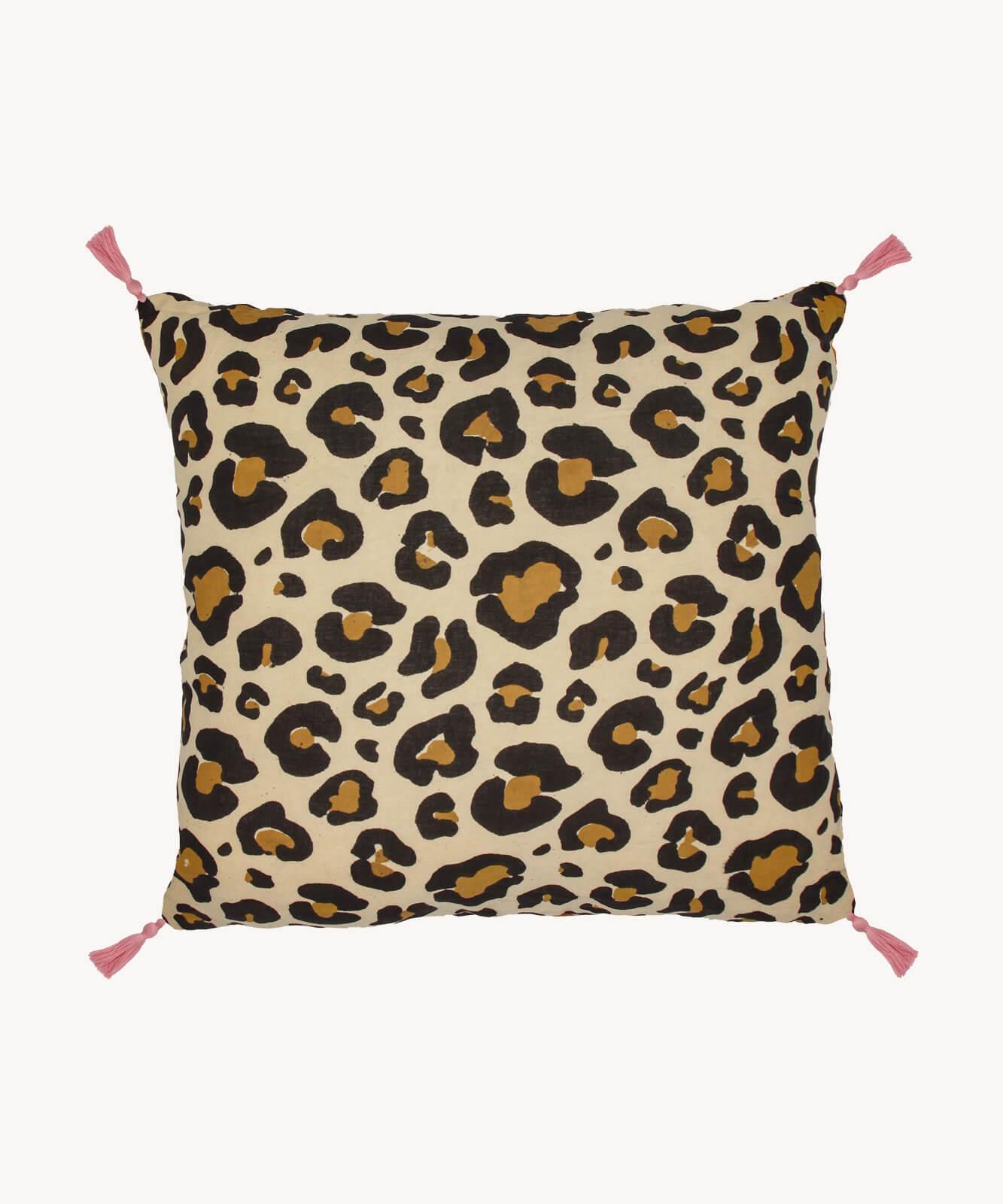 leopard pillow small