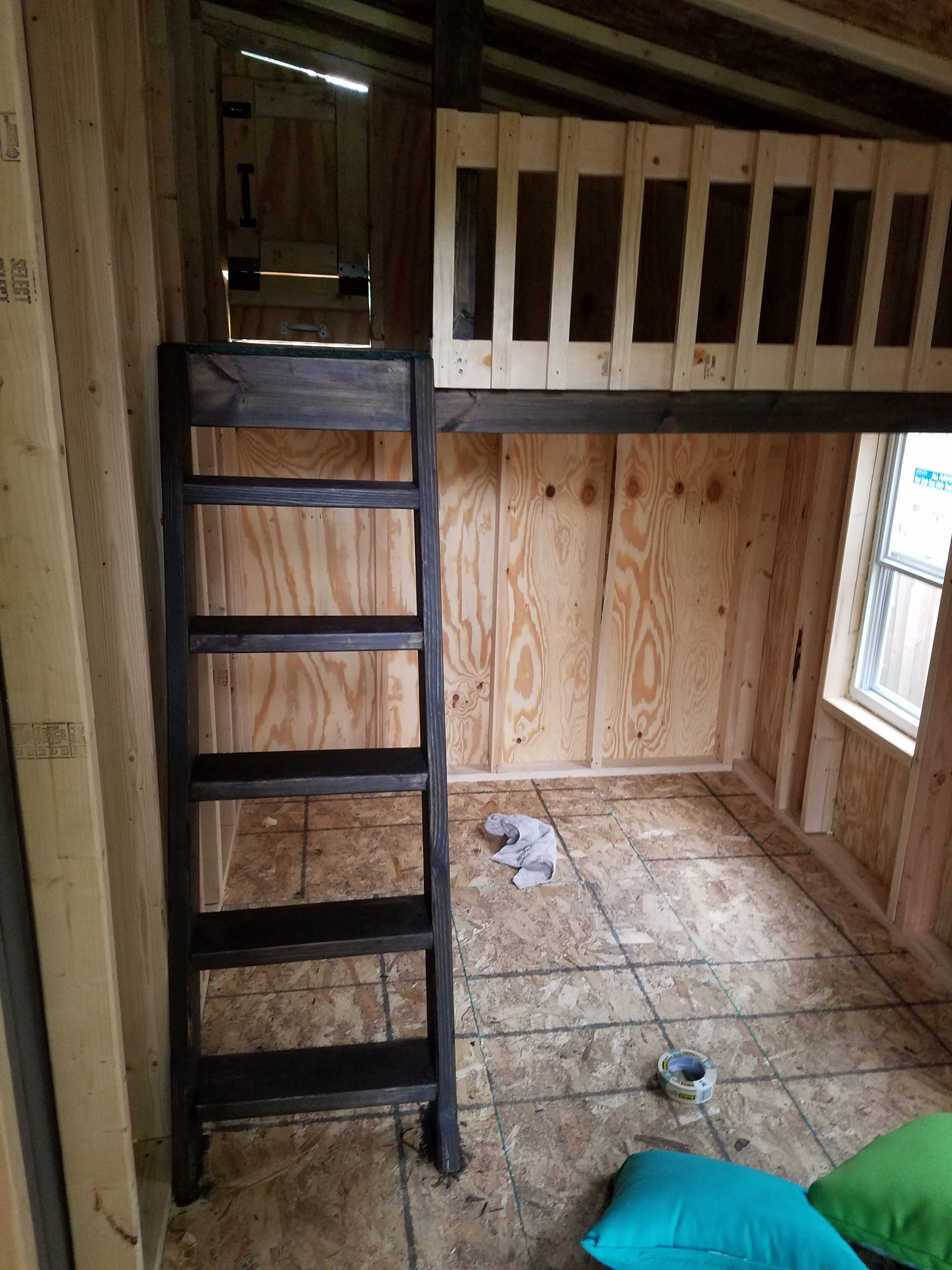 Then I carried the stain inside the playhouse on the ladder and the beam for the loft. I figured the stain would hold up to traffic on the ladder much ... & Project Playhouse | Doing Dishes Making Wishes