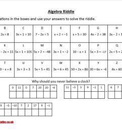 Algebraic equations - Free worksheets [ 778 x 1100 Pixel ]