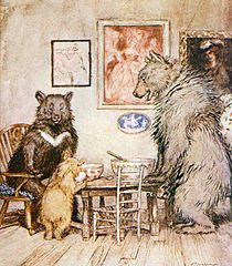 """The Three Bears . . . Goldilocks found that small was """"just right."""""""