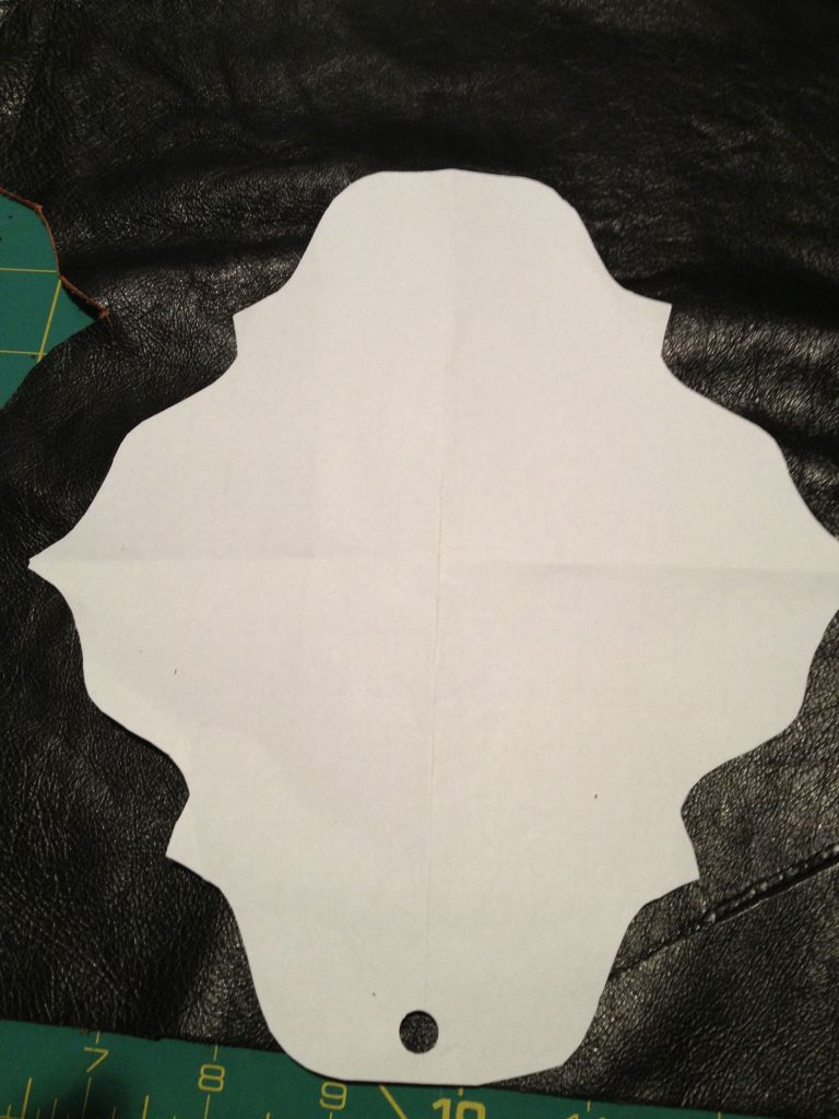 Cut pattern to make leather decoration.