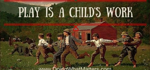 "Play is a child's work; based on Winslow Homer's ""Snap the Whip"""