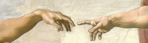 The Creation of Adam by Michelangelo Buonarroti (1475–1564)