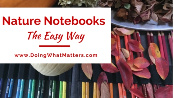 You can make nature notebooks the easy way.