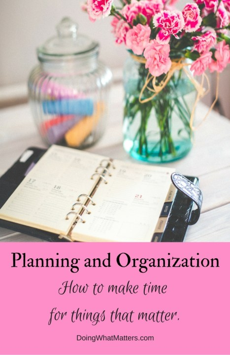 Peaceful planning and organizing posts from Janice Campbell's Doing What Matters blog.
