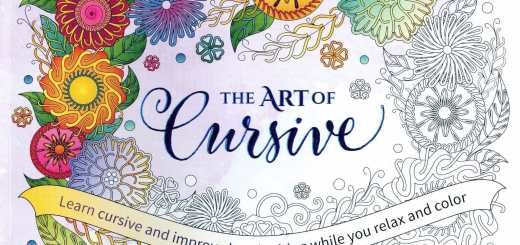 The Art of Cursive coloring book is a delightful way to practice handwriting / penmanship after you have completed the CursiveLogic workbook.