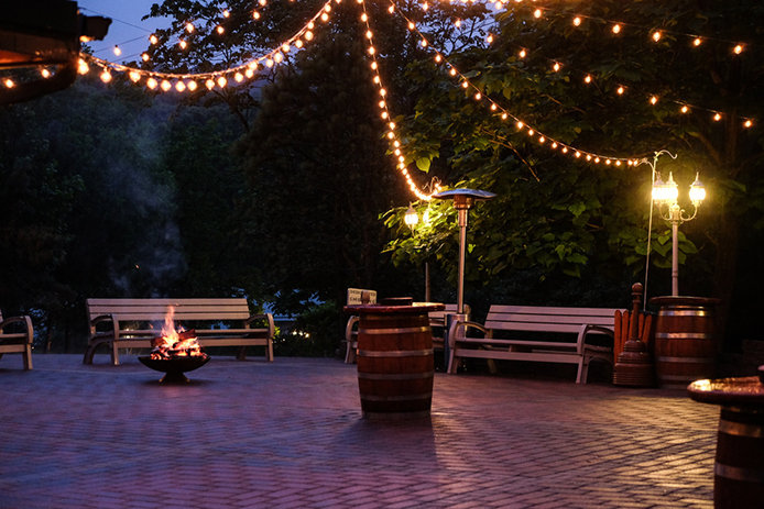 outdoor space with patio lights