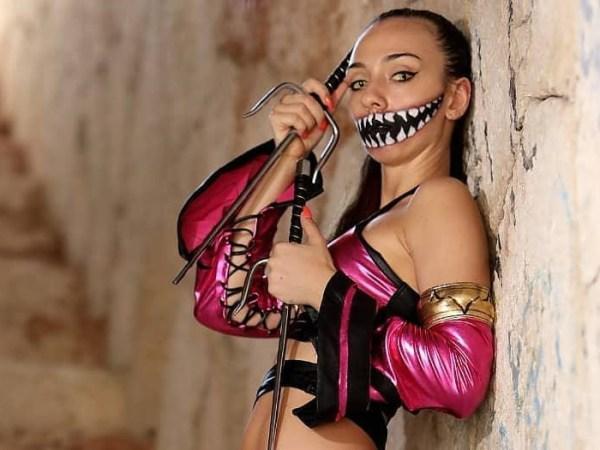 La letale Mileena, interpretata da Alessandra Bonatti!