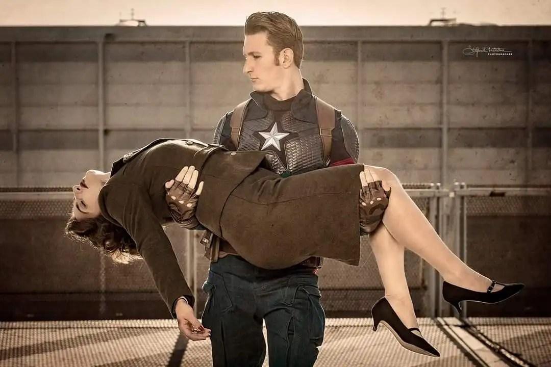 Gli impersonator di Captain America e la sua amata Peggy Carter!