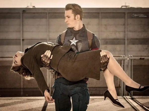 Gli impersonator di Captain America e la sua amata Peggy Carter!