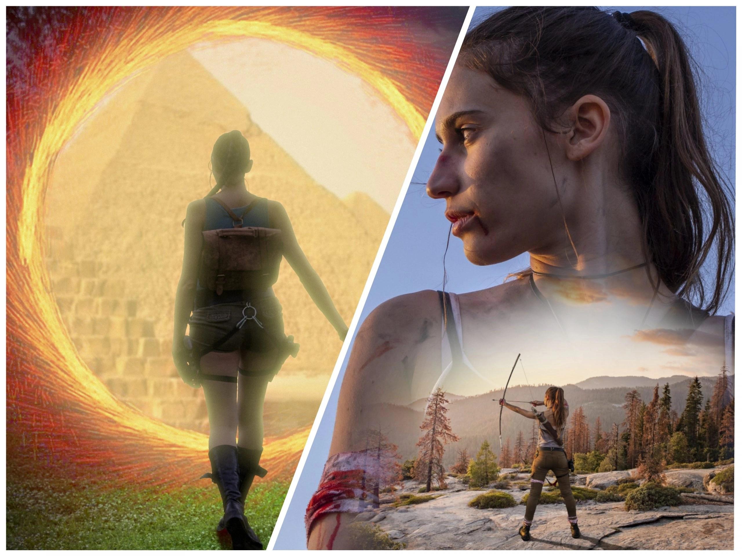 Il fascino dell'iconica Lara Croft nelle suggestive immagini editate da Non Solo Aliprando!