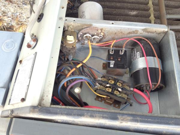 ac motor run capacitor wiring diagram 2008 pontiac g6 speaker question about replacing on trane xl 1200 condensor... - doityourself.com community forums