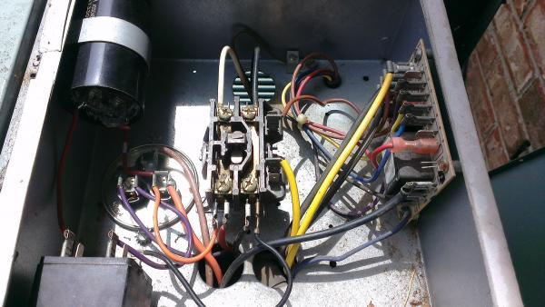 fan and light wiring diagram trailer 7 pin plug australia honeywell compressor contactor upgrade problem - doityourself.com community forums