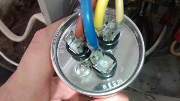 dual capacitor motor wiring diagram cuts of lamb outside central air unit locking up - doityourself.com community forums