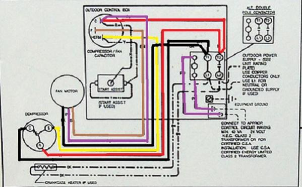 37617d1409778469 another goodman c problem acwiringschematic 1 ?resize\=599%2C372 goodman ac wiring diagram mitsubishi mr slim wiring diagram \u2022 free hvac wiring schematic at n-0.co