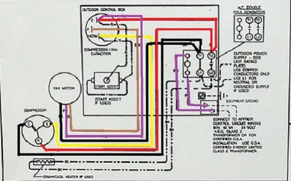 goodman heat pump capacitor wiring diagram wiring diagram how to replace condensor fan motor hvac diy chatroom home
