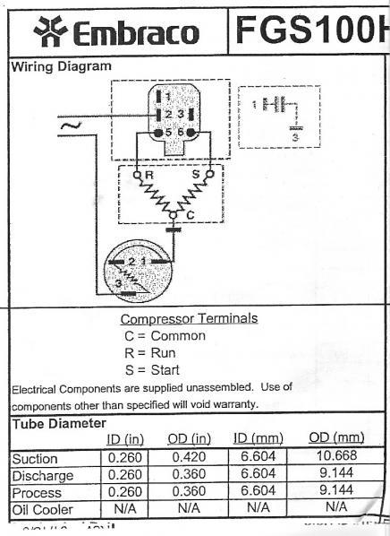 embraco relay wiring diagram ostrich skeleton a refrigerator compressor - doityourself.com community forums