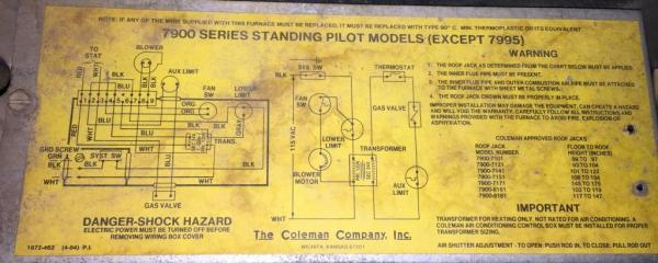 Coleman Two Wire Thermostat Wiring