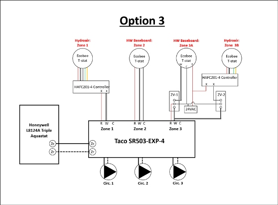 Weil Mclain boiler: updating the original relays