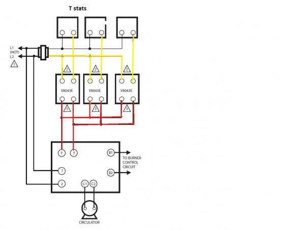 Help How To Wire 2 V E Zone Valves Into A Weil