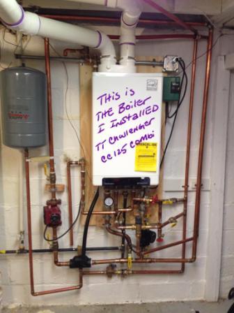 first floor CI radiator not heating new Triangle tube