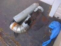 Rotten Flue Pipe Direct Vent Oil fired Burner