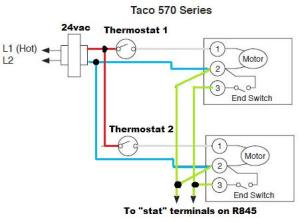 need help wiring taco zone valves  DoItYourself Community Forums