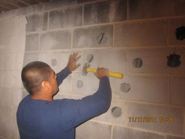 Basement wall strengthening wconcealed wall pins  DoItYourselfcom Community Forums