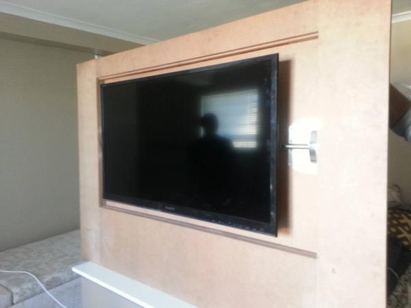 Custom Flip Wall Panel  Hidden TV  DoItYourselfcom