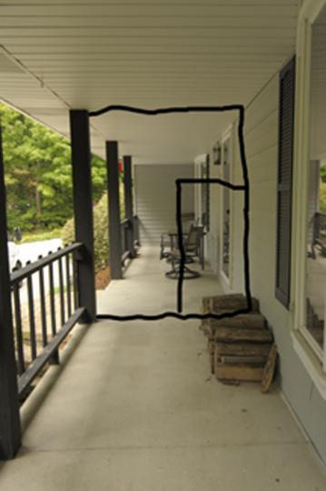 quick temporary enclosure of porch for