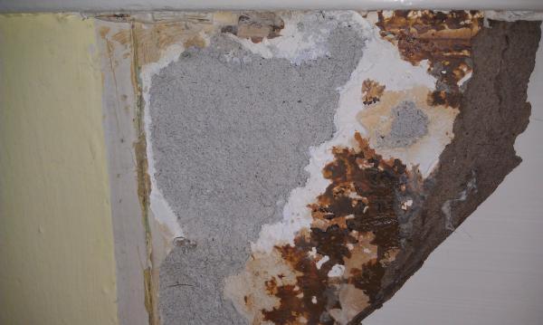 Repair wall after removing formica backsplash