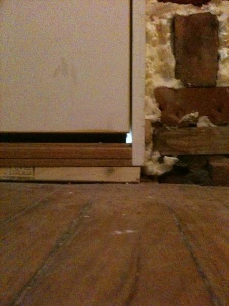 Large Gap Under my New Exterior PreHung Door Please Help  DoItYourselfcom Community Forums