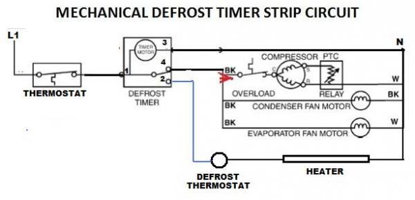Precision 208 Defrost Timer Wiring Diagram Freezer Defrost Timer ...