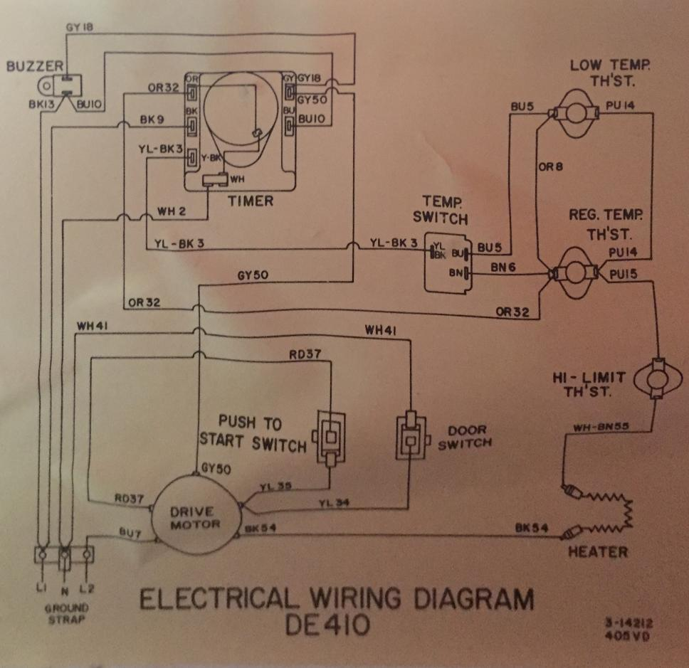 maytag dryer wiring diagram simple boat light de410 dryer: no heat and problems - doityourself.com community forums