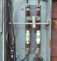 and if so are those fuses still available fwiw the barn panel has a 100 amp breaker that shuts that panel off the image is rotated 90 degrees ccw  [ 800 x 1422 Pixel ]
