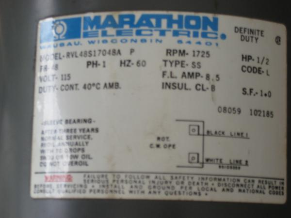 motor starter wiring diagram for furnace marathon 1/2 hp electric - doityourself.com community forums