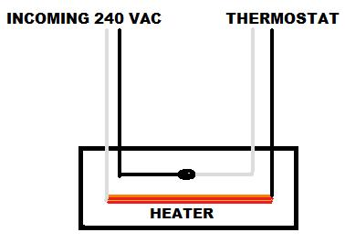 240 volt baseboard heater wiring diagram biliary tree with wall mounted thermostat the is just opening one leg of power from panel to in description i used white but recolor them red for future reference
