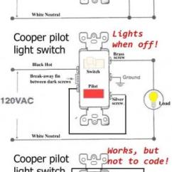 4 Way Light Switch Wiring Diagram Uk Wall Outlet Changing A Single Pole With And Pilot - Doityourself.com Community ...