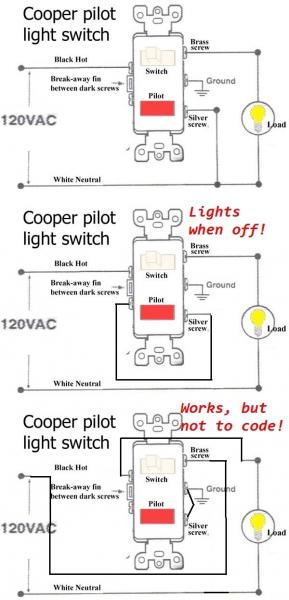 Changing a single pole light switch with a switch and pilot light  DoItYourself Community