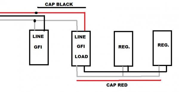 wiring diagram for gfci outlet co2 pressure temperature phase using 12-3 to run 2 circuits with gfci's keeps tripping? - doityourself.com community forums