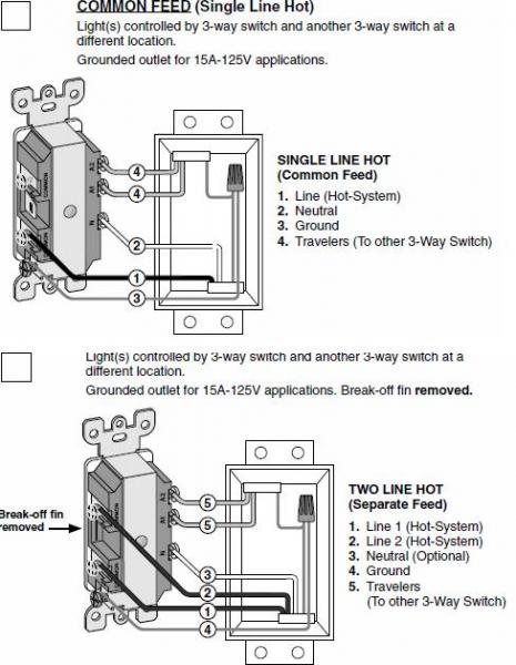 electrical outlet switch wiring diagram sheep brain replacing a 3 way with combo 3way switch/outlet - doityourself.com community forums