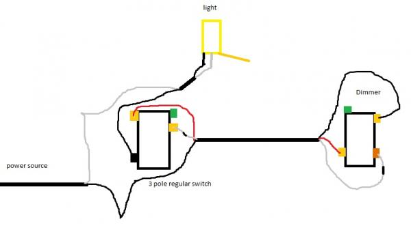 wiring a lamp to switch