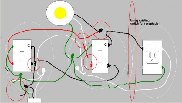 wiring diagram 3 way switch split receptacle wiring diagram wire an outlet kitchen split receptacle circuit source