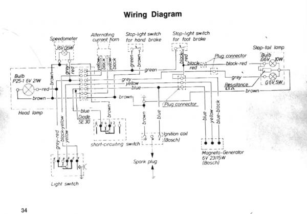 Wiring Diagrams Moped - Wiring Diagrams Schema on