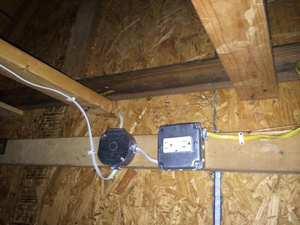 Lighting Circuits Using The Switch As A Junction Box For Garage Or