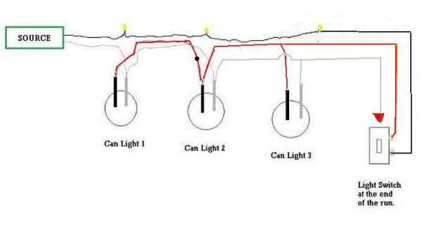 wiring diagram for recessed lighting