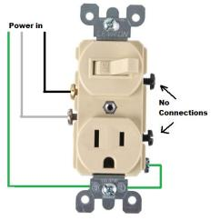 Outlet Switch Combo Wiring Diagram Reading A Motorcycle Combination For Plug Schematic How To Wire Switches Light Fixture U2013 Readingrat Net