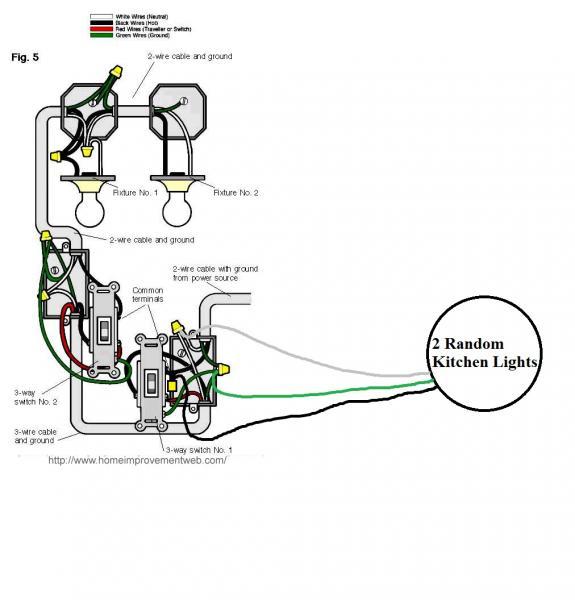 Modifying Lighting Circuit for New 3-Way Lights